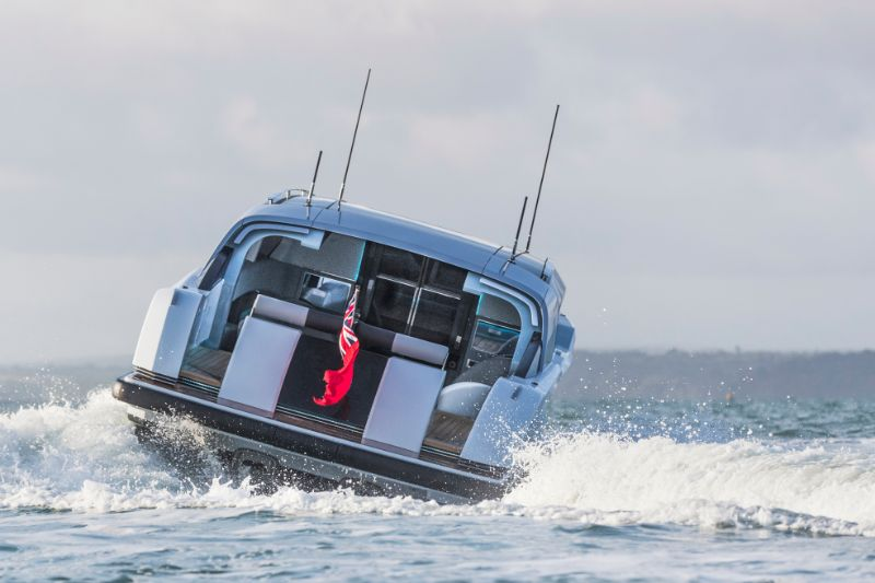 limousine tender with open aft