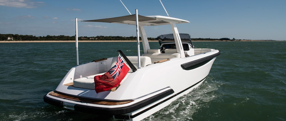 Compass Tenders side and rear of sports tender