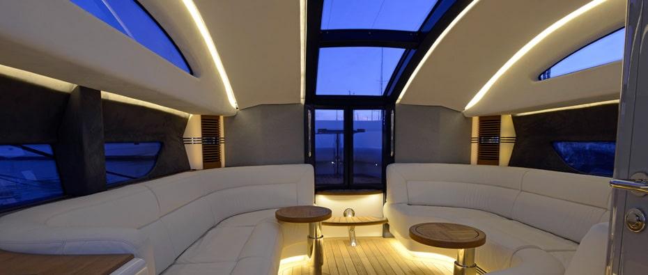 inside a Compass Tender limousine