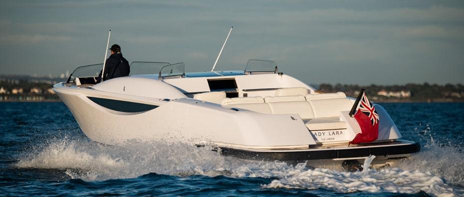 Compass Tenders limousine tender for superyacht