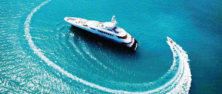 Compass Tender around the superyacht