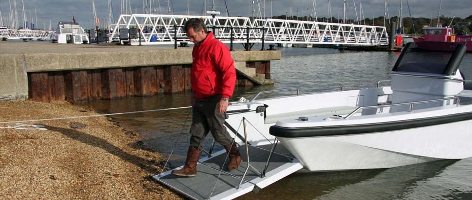 Compass Tenders workboat landing