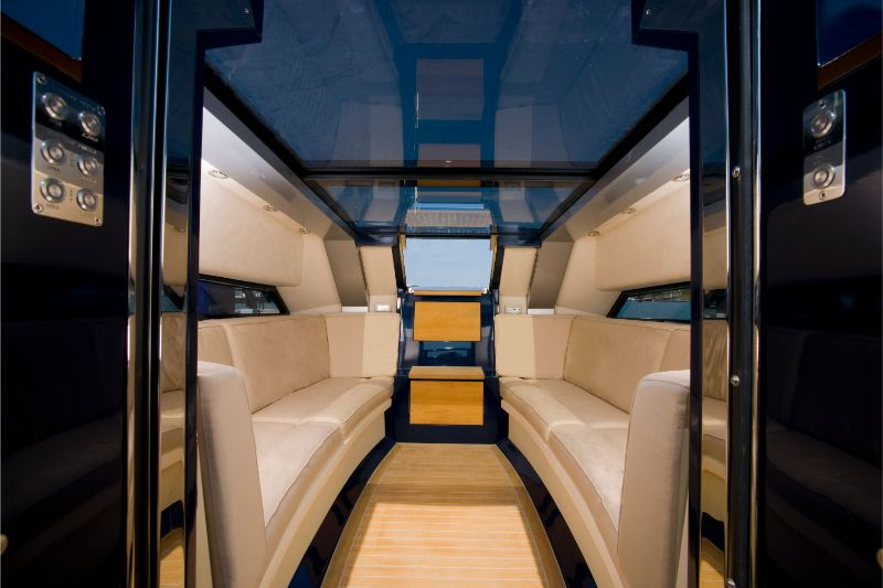 interior of a limousine tender
