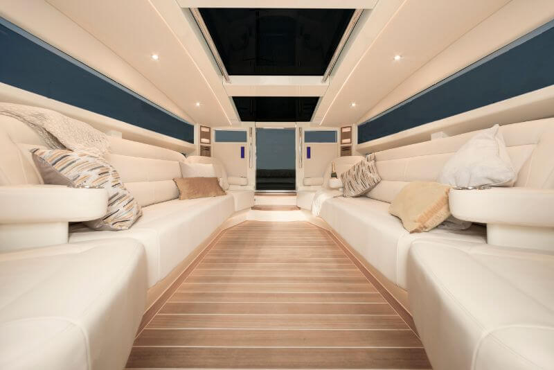 Compass Tenders interior of limousine