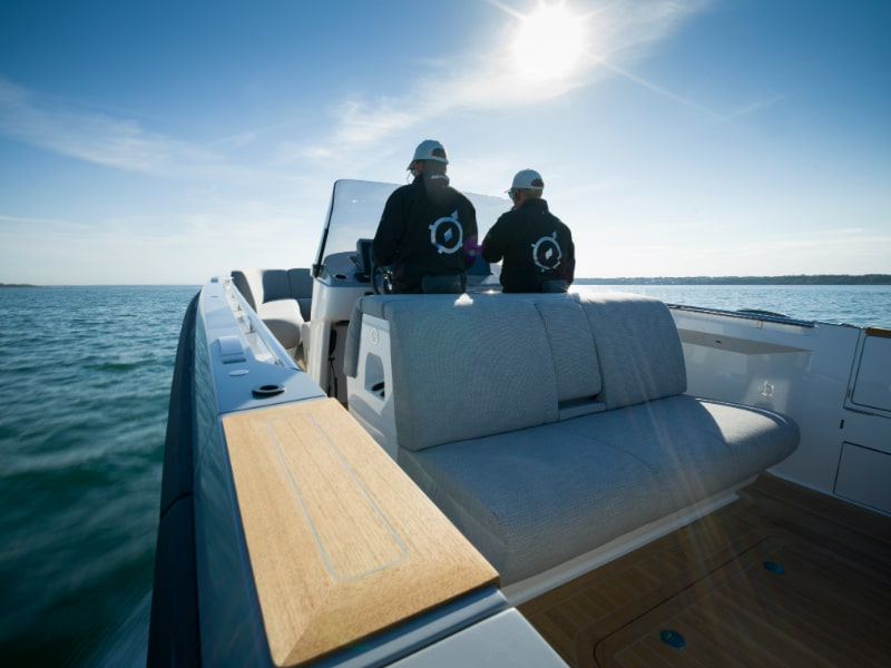 onboard a luxury superyacht tender
