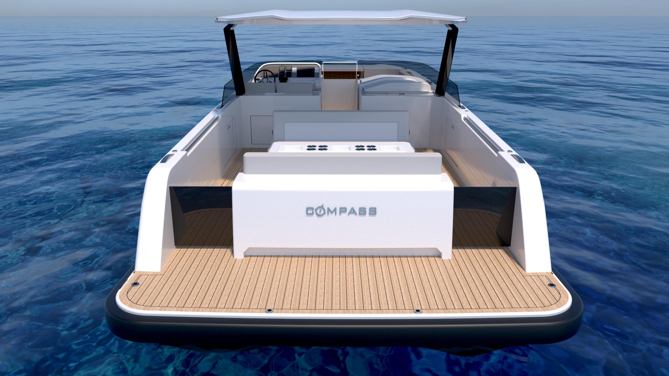 Luxury power catamaran